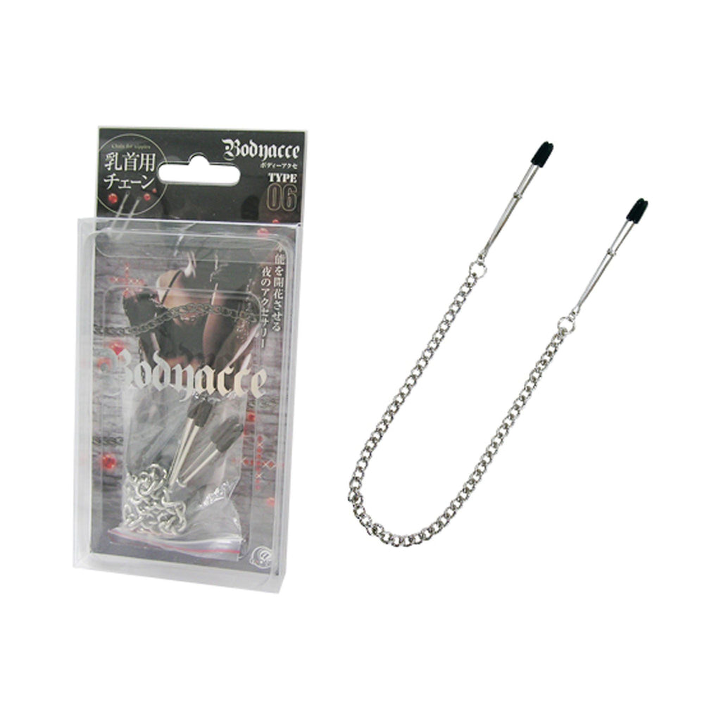 A-One Bodnacce Type 06 Metal Chain Nipple Clamps BDSM Sex Toy 乳頭夾 金屬 鐵鏈 調教 性玩具