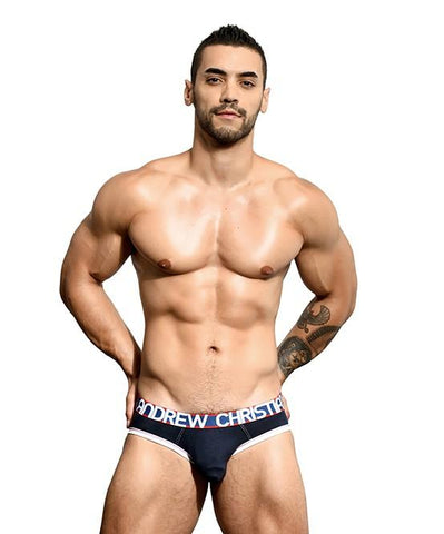 Andrew Christian Almost Naked Cotton Brief Navy Mens Underwear 男士 棉質 三角 底褲 深藍色