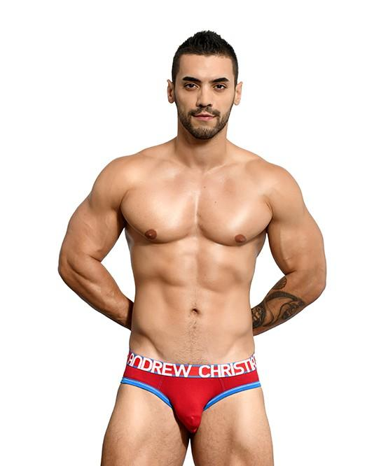 Andrew Christian Almost Naked Cotton Brief Red Mens Underwear 男士 棉質 三角 底褲 紅色