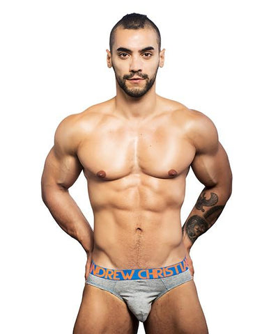 Andrew Christian Almost Naked Premium Brief Heather Grey Mens Underwear 男士 頂級 三角 底褲 灰色