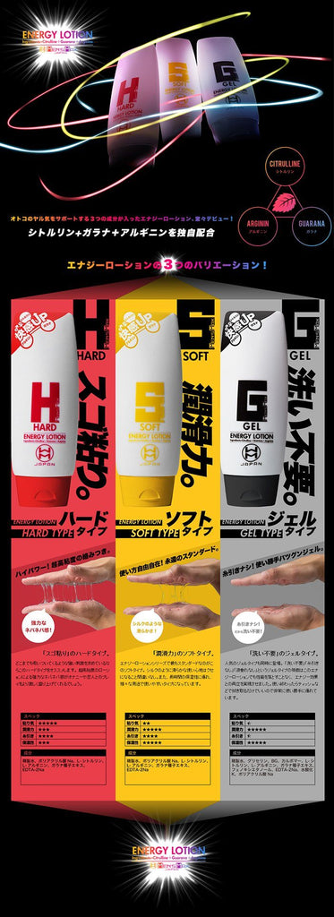 Men's Max Energy Lotion Hard Water-based Lubricant 濃厚 高黏 水性 潤滑液