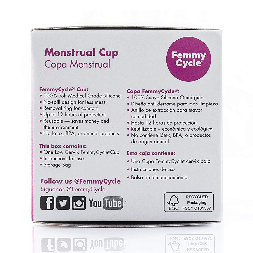 FemmyCycle Menstrual Cup Low Cervix 防漏 月經杯 低子宮頸型