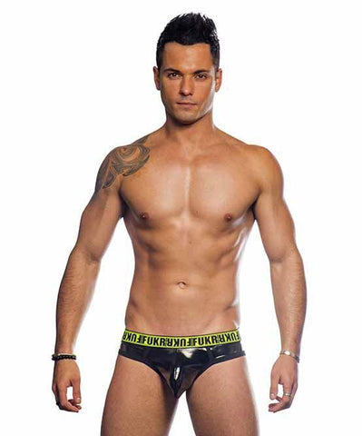 Andrew Christian FUKR Gloss Brief Mens Underwear Black 男士 三角 底褲 黑色