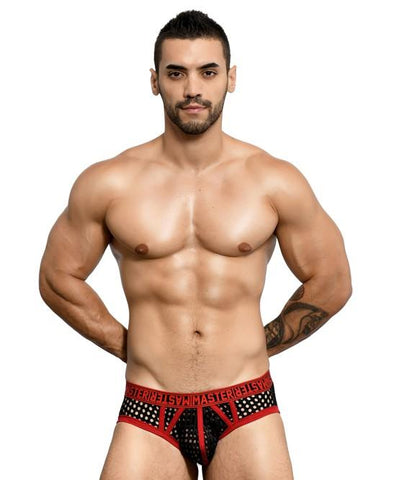 Andrew Christian MASTER Net Brief Mens Underwear Black 男士 網布 三角 底褲 黑色