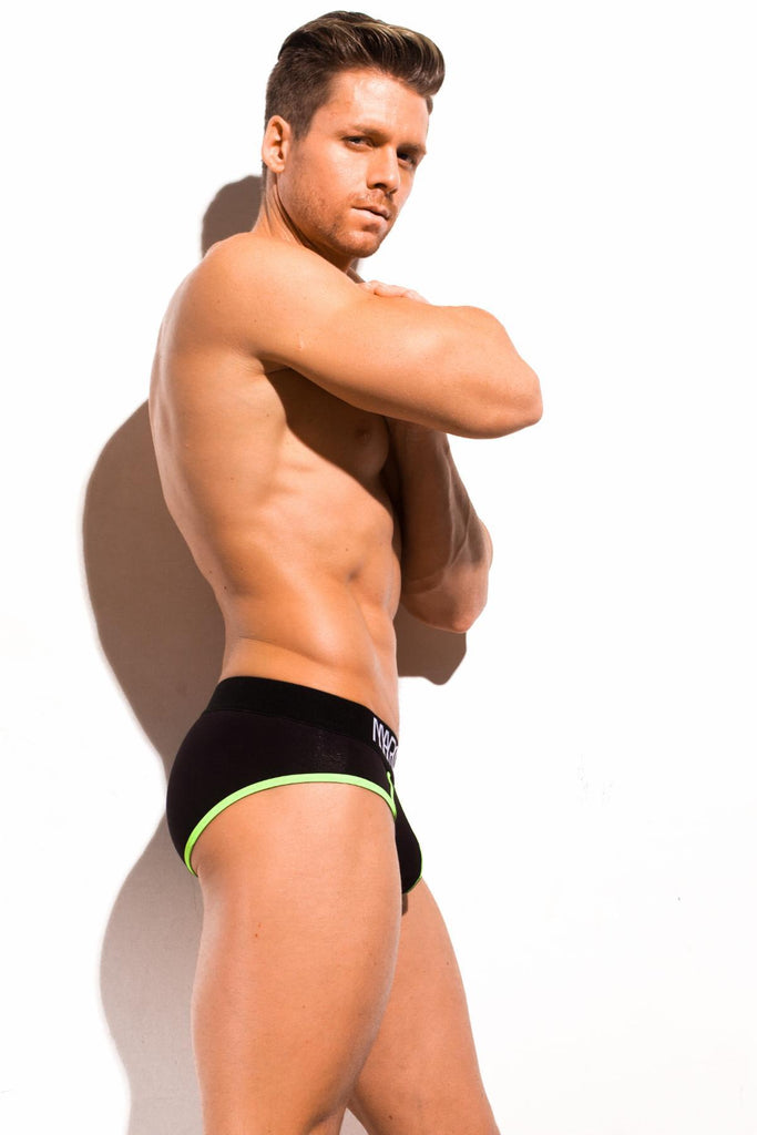Marco Marco Neon Stitch Mens Black Underwear 男士 三角 螢光 黑色 底褲