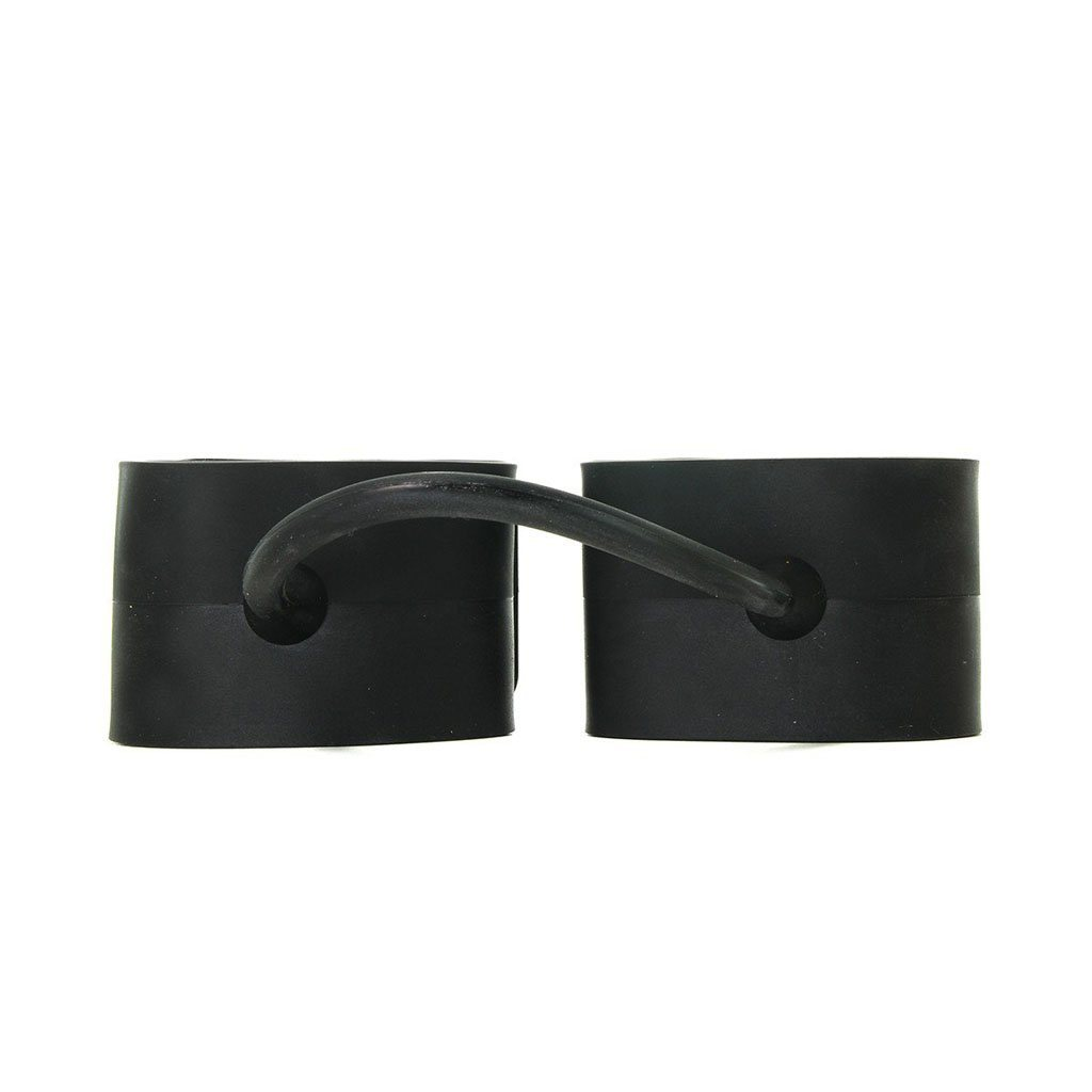 Ouch! Silicone Cuffs for Hands and Ankles BDSM Black 矽膠 手銬 腳銬 黑色