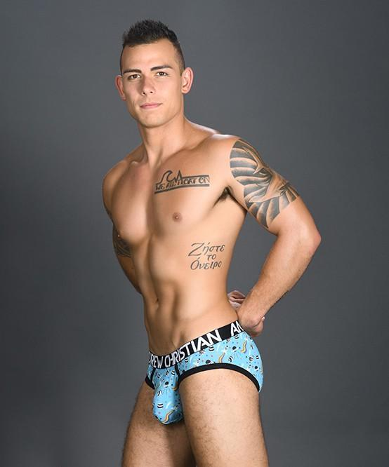 Andrew Christian Pride in Space Briefs Mens Underwear Light Blue 男士 三角 底褲 淺藍色