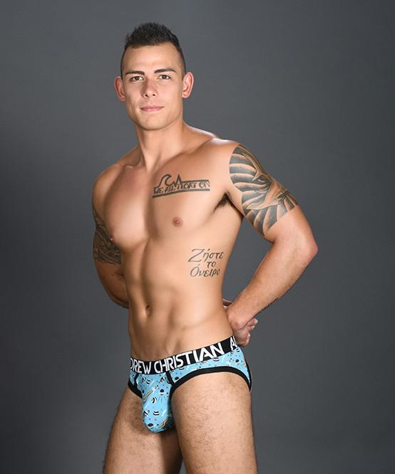 Andrew Christian Pride in Space Locker Room Jock Mens Underwear Light Blue 男士 後空 底褲 淺藍色