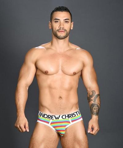 Andrew Christian Pride Pride Rainbow Stripe Love Mens Underwear 男士 三角 底褲 彩虹