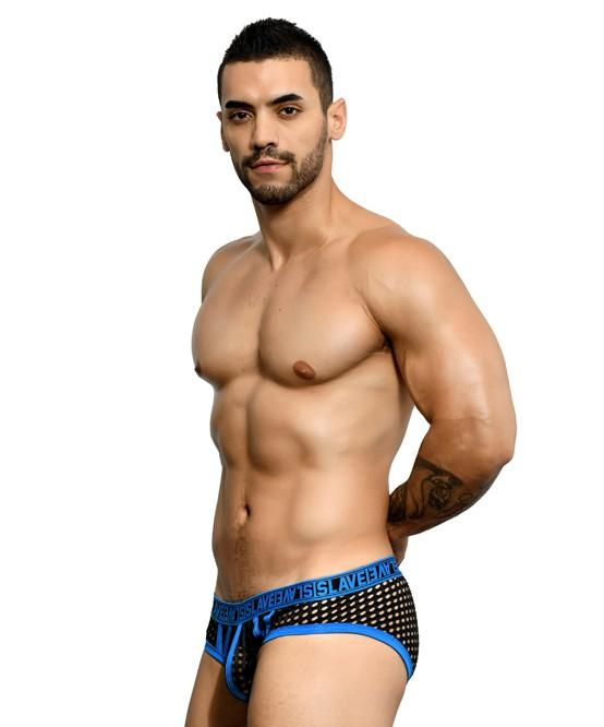 Andrew Christian SLAVE Net Brief Mens Underwear Black 男士 網布 三角 底褲 黑色