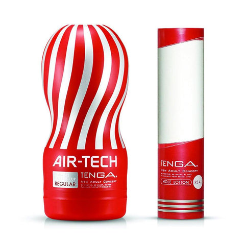Tenga Air-Tech Regular Hole Lotion Masturbation Cup Lubricant Set Sex Toy 自慰杯 飛機杯 標準型 潤滑液 套裝 性玩具