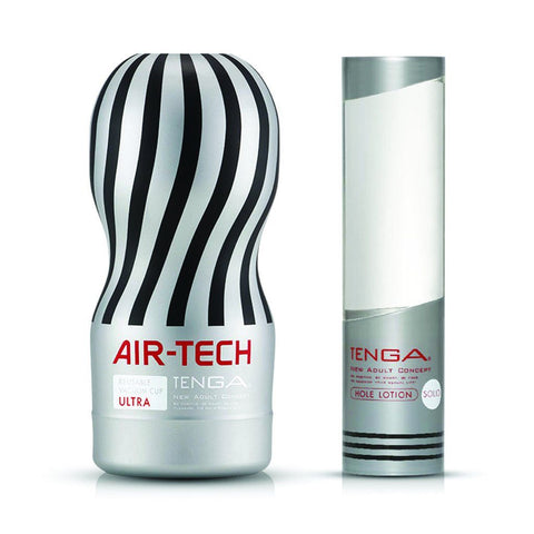 Tenga Air-Tech Ultra Hole Lotion Masturbation Cup Lubricant Set Sex Toy 自慰杯 飛機杯 超級型 潤滑液 套裝 性玩具