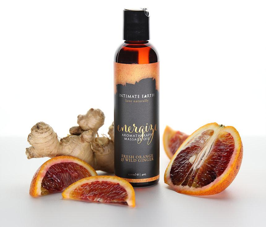 Intimate Earth Energize Aromatherapy Massage Oil Fresh Orange Wild Ginger 香薰 按摩油 鮮橙 野薑