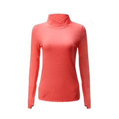 Barbok Women's High Collar Running Sweatshirt with Thumb Holes