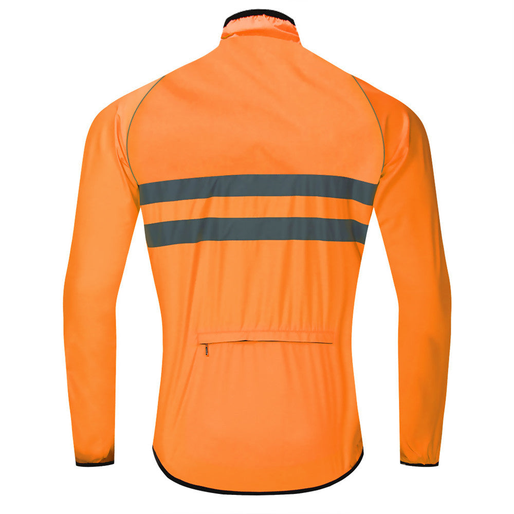 WOSAWE Men's High Visibility Cycling Wind Jacket Reflective Bicycle Windbreaker