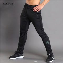 BARBOK Men Running Basketball Sweatpants Elastic Gym Fitness Workout Jogger