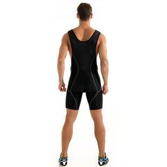 WOSAWE Men's Cycling Bib Shorts 3D Cushion Padded