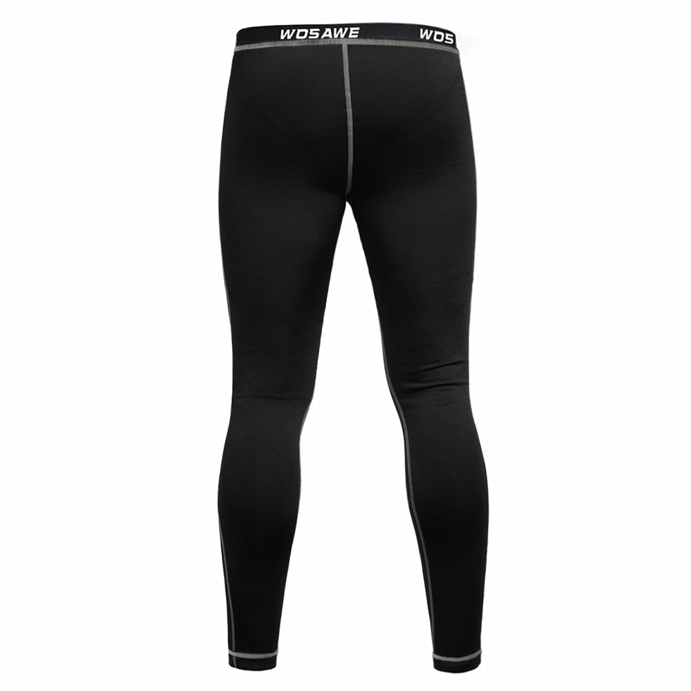 WOSAWE Thermal Fleece Long Johns for Winter Cycling