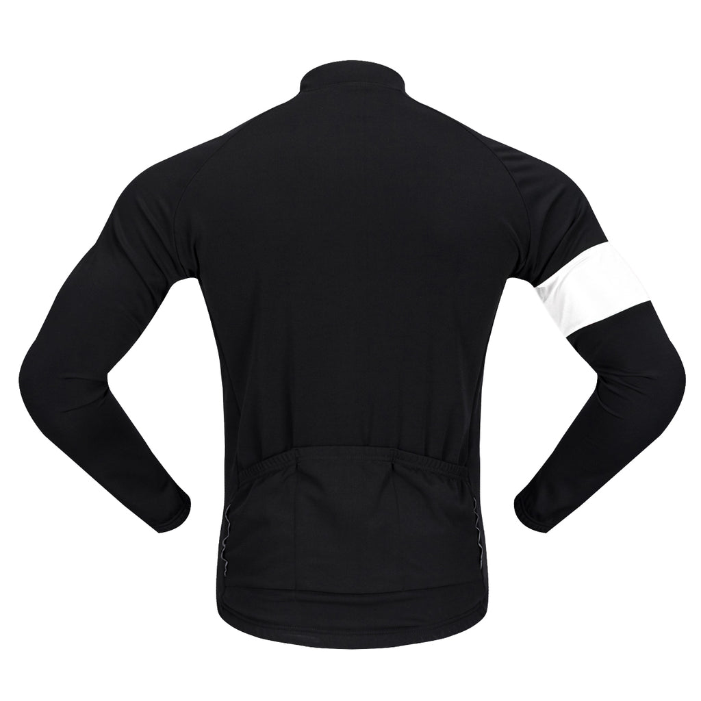 WOSAWE Men's Thermal Fleece Long Sleeves Cycling Jersey Winter Bike Outfit
