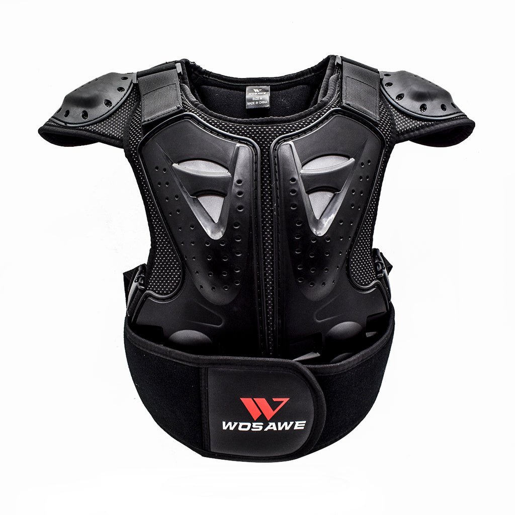 WOSAWE Kids Balance Bike Cycling Body Armour Vest Snowboarding Training Bicycle Chest Spine Protector, Ages 4 to 15