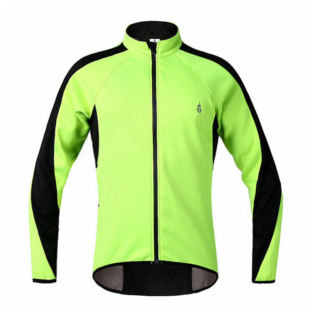 WOSAWE Thermal Fleece Cycling Jersey Wind Coat Winter Jacket for Men