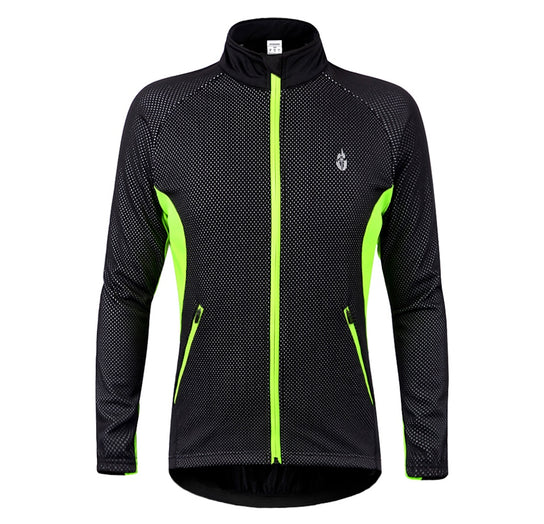 Wolfbike Winter Cycling Wind Breaker Jacket Fleece Inside 3 Colors