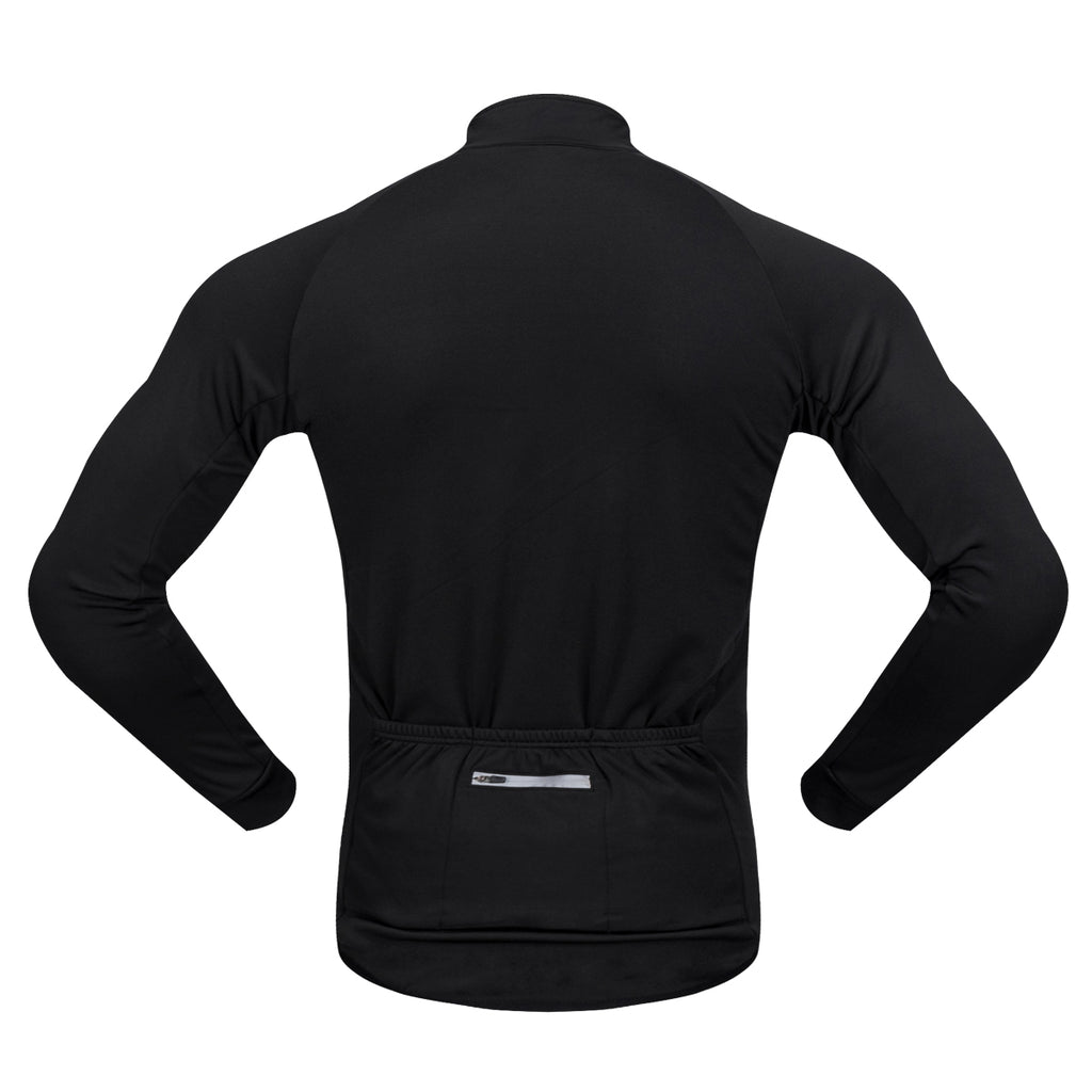 WOSAWE Soft Thermal Fleece Cycling Jersey Long Sleeves