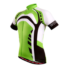 Wosawe Mens Cycling Shirts with 3 Rear Pockets & Elastic Hem
