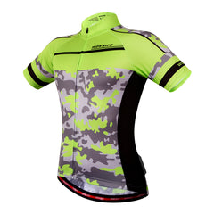 Men's Short Sleeve Cycling Jersey Full Zip Moisture Wicking Breathable Bike Shirt
