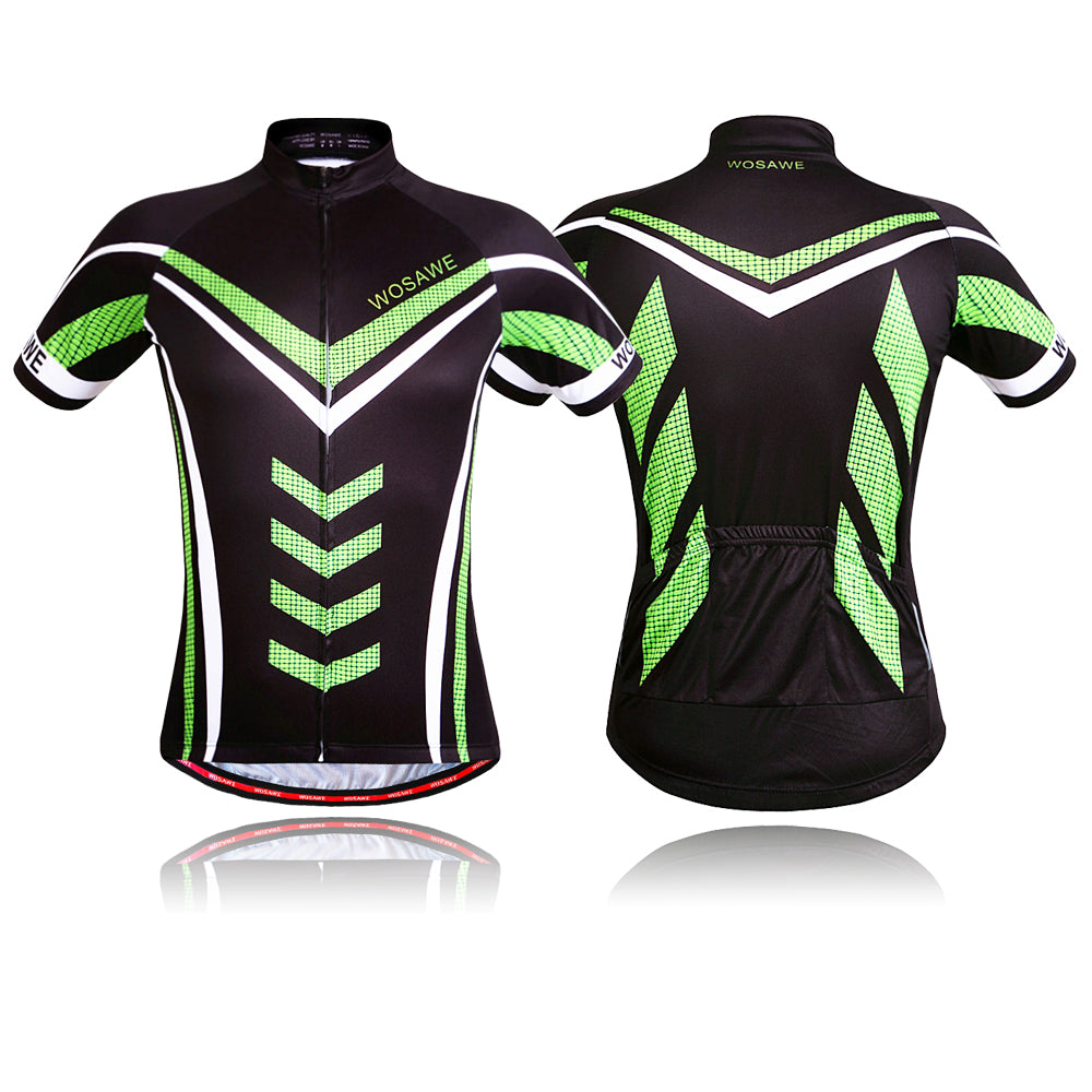 Free Shipping Men's Breathable Cycling Jersey with Silicone Hem