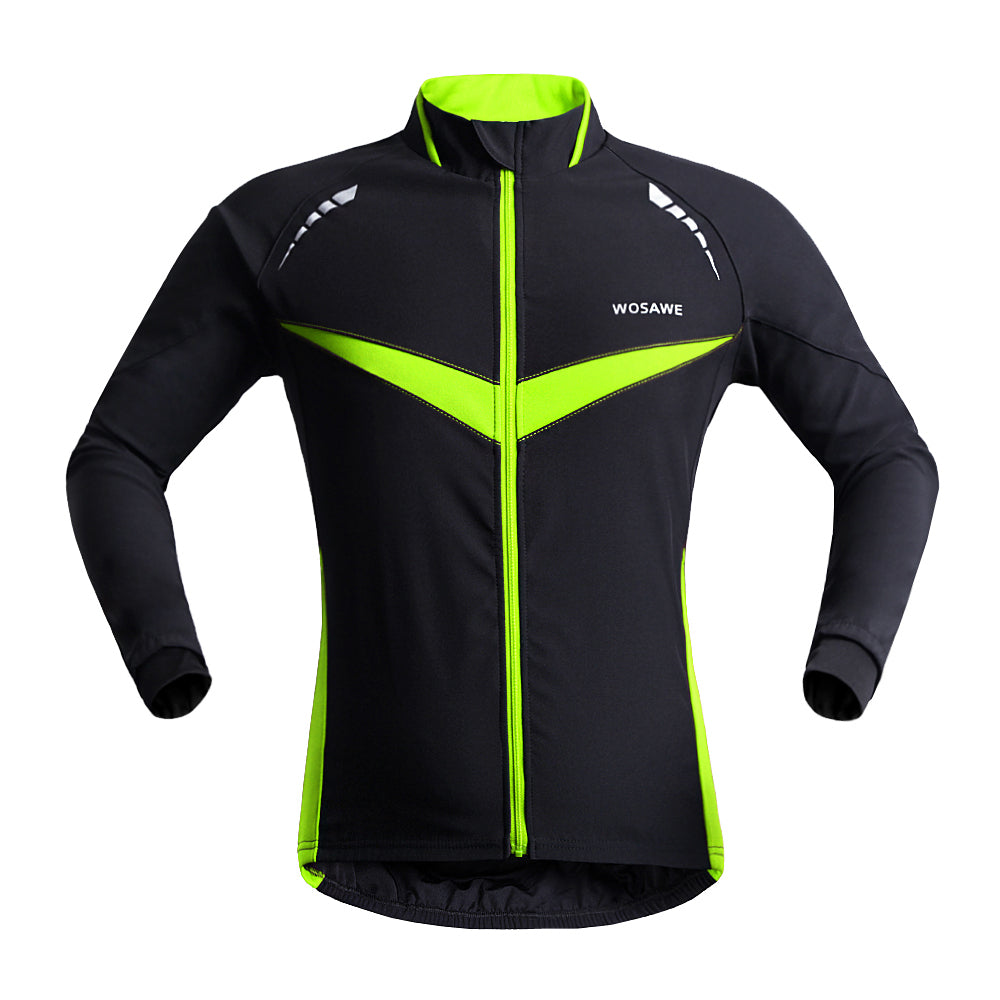 Wosawe  Men's Bike Windbreaker  Winter Cycling Jackets Wind & Water Resistance