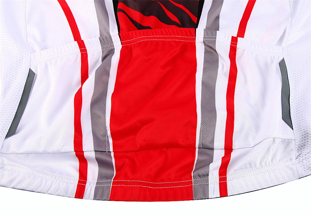 WOSAWE Men's Cycling Jersey Set Short Sleeve Full Zip Moisture Wicking