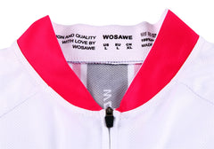 WOSAWE Summer Short Sleeves Cycling Jerseys for Women Quick-Dry