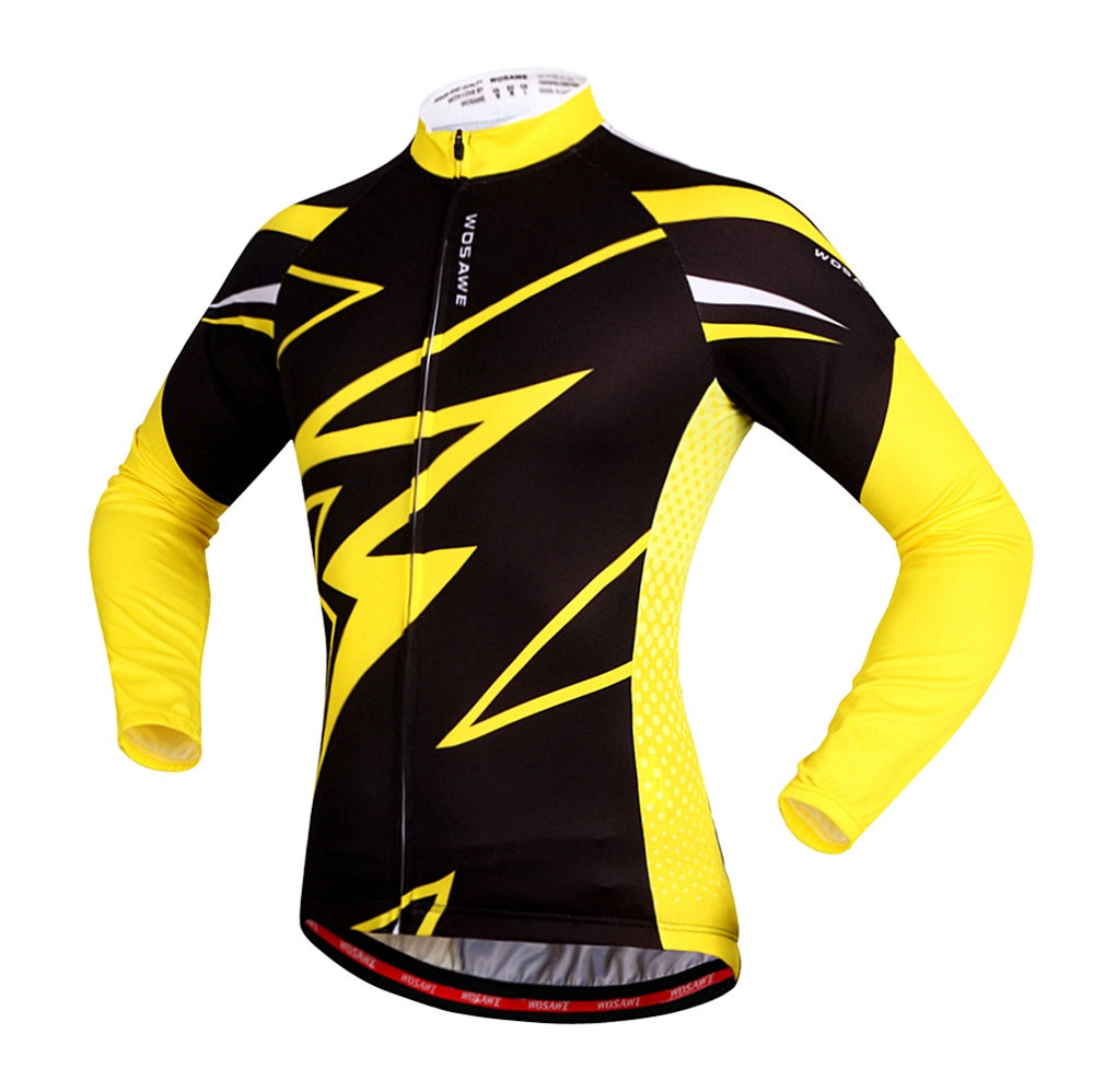 WOSAWE Quick Dry Cycling Jersey Long Sleeve Chill Day Breathable Men's Bicycle Shirt