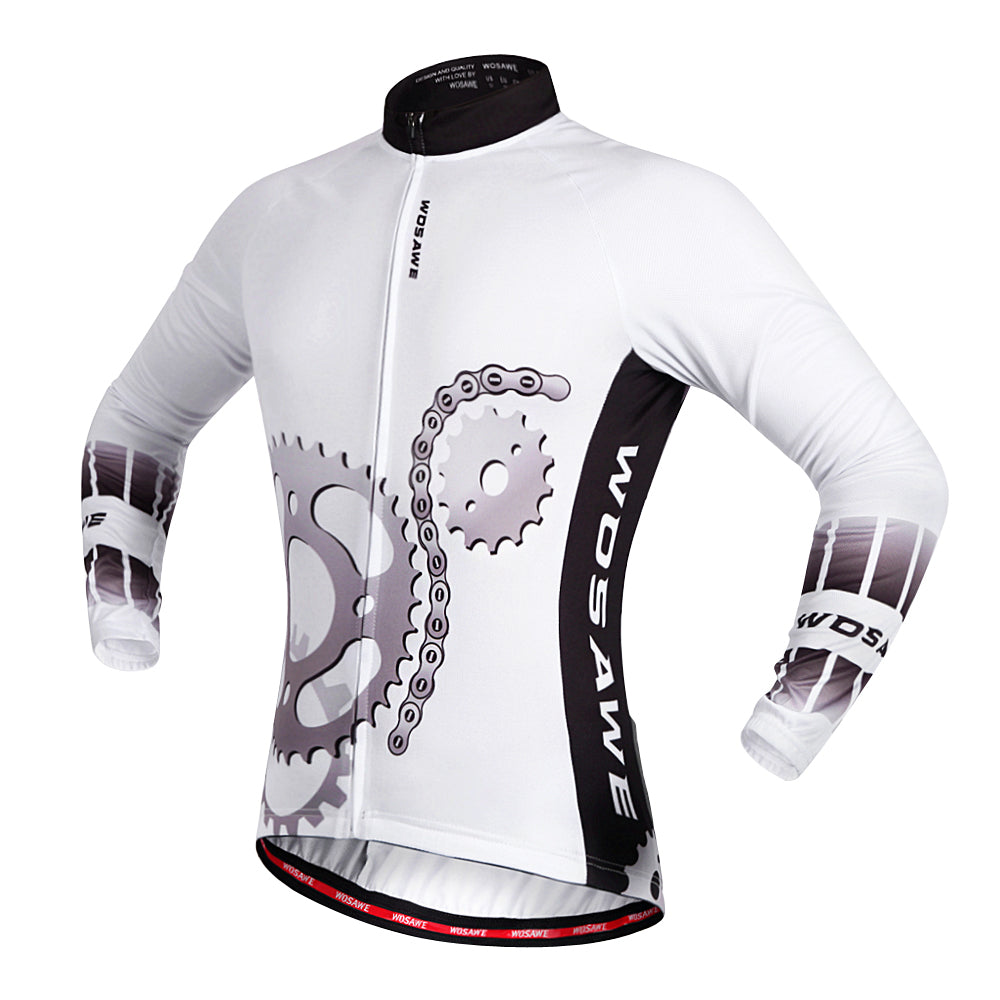 Wosawe Men's Cycling Full Kit Long Sleeve Jersey with Padded Pants