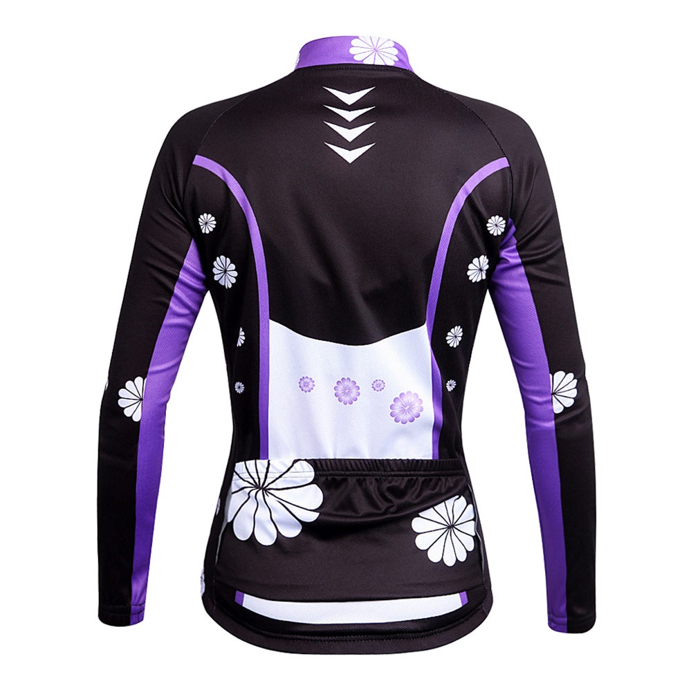 WOSAWE Womens Long Sleeve Cycling Jerseys Bicycle Top Clothing for Women