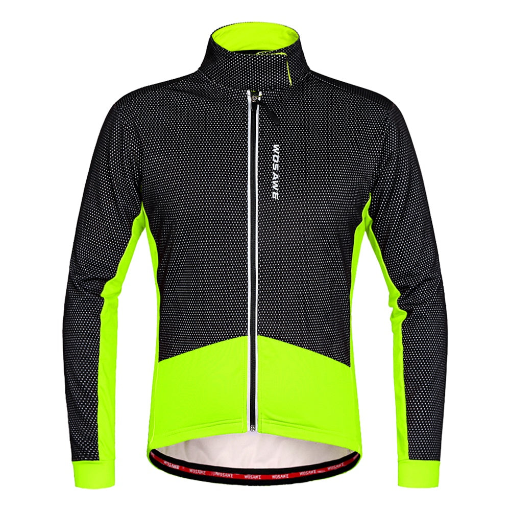 Wosawe Men's Winter Cycling Jacket Long Sleeve Bike Windbreak