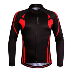 WOSAWE Men's Long Sleeve Cycling Jersey Full Zip Moisture Wicking MTB Shirts
