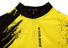 WOSAWE Men's Cycling Jersey Ciclismo Clothing Summer Short Sleeve Bicycle Jerseys