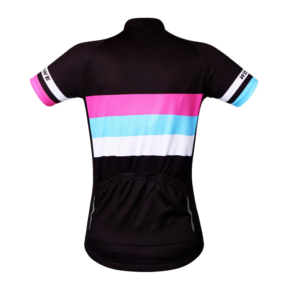WOSAWE Breathable Cycling Jersey Women Summer Short Sleeve Bike Clothing