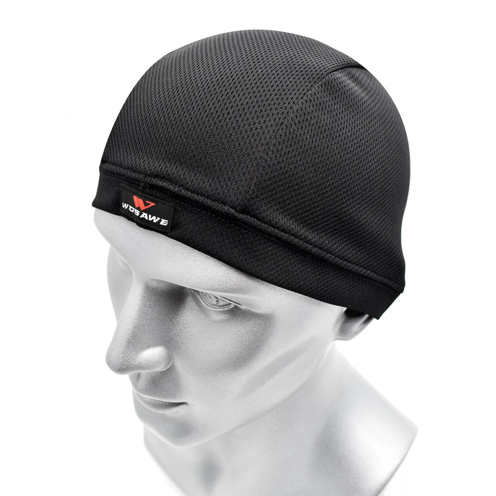 WOSAWE Unisex Soft Cycling Skull Caps Under Helmet Liner Summer Cycling Racing Beanie