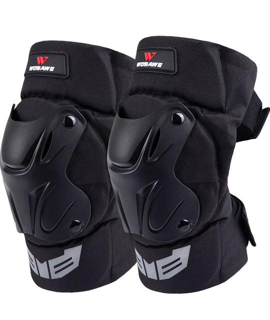 WOSAWE 1Pair Adult's Tactical Protective Knee Guards for Motorcycle, Cycling, Skating
