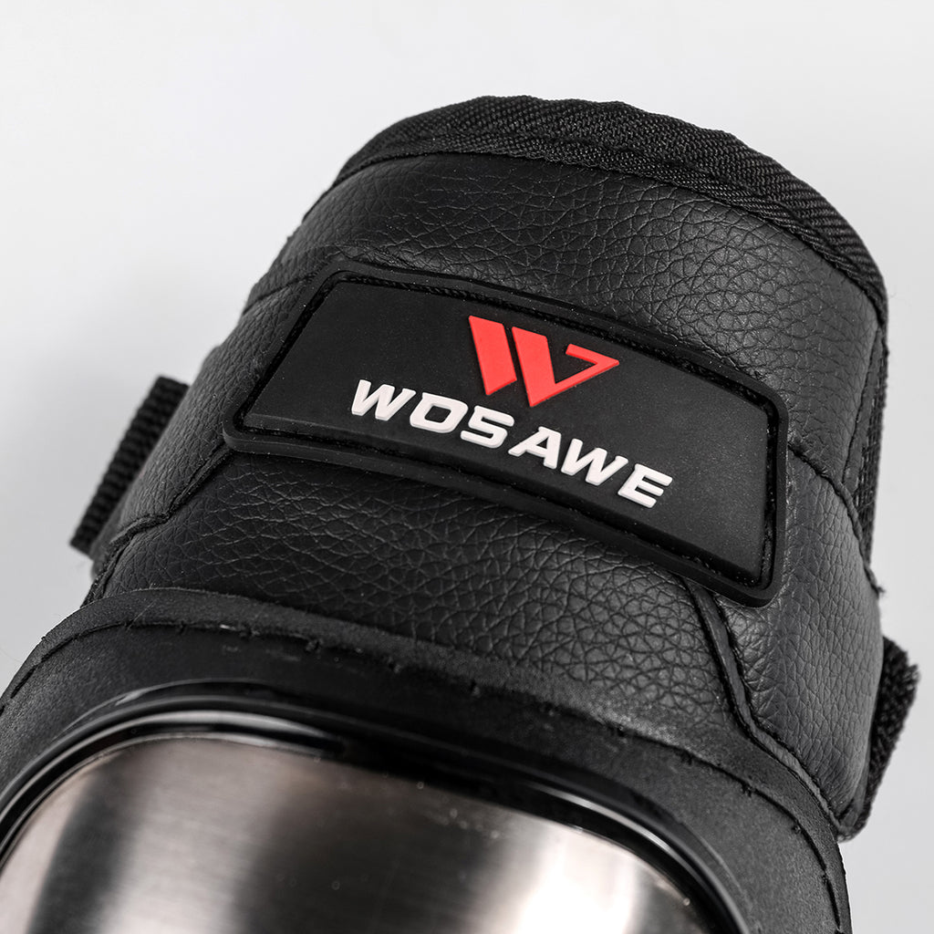 WOSAWE Alloy Steel Motorcycle Elbow Protector for Racing Motocross Cycling Skate Skateboard