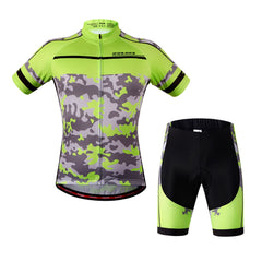 WOSAWE Cycling Jersey Short Sleeve MTB Bike Clothing 1 Set