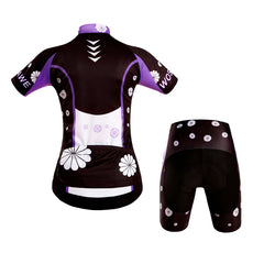 WOSAWE Summer Women Short Sleeve Cycling Jerseys Set Quick-Dry Bicycle Sportswear