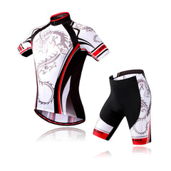 WOSAWE Bicycle Jersey for Men Cyclist Shirts and Padded Shorts Set