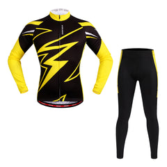 WOSAWE Men's Long Sleeve Cycling Set Moisture Wicking