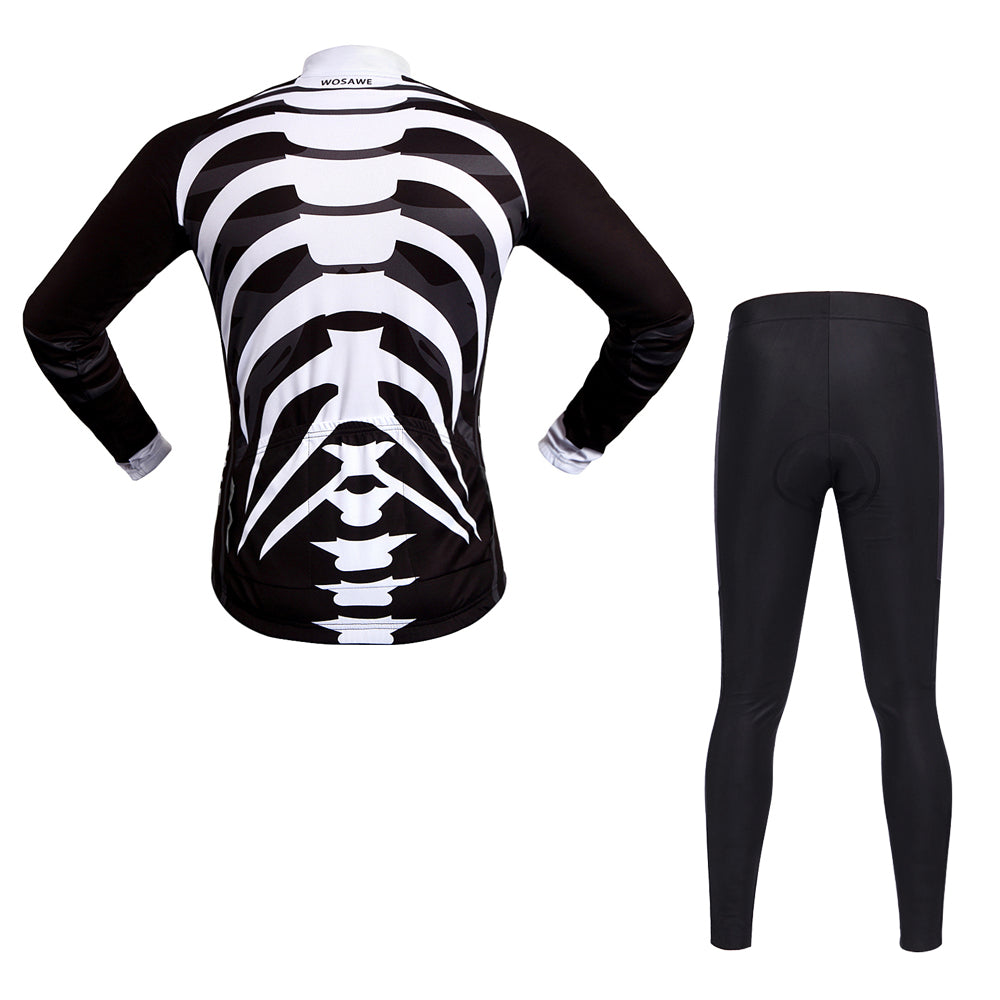 Skeleton Cycling Jersey Breathable Pro Bike Mountain Shirt Riding