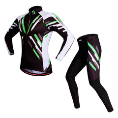 Autumn Winter Long Sleeves Road Cycling Jersey Men Set Breathable Bike Suit