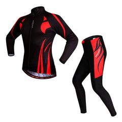 Global Free Shipping WOSAWE Cycling Jersey Set Long Sleeves Padded Pants